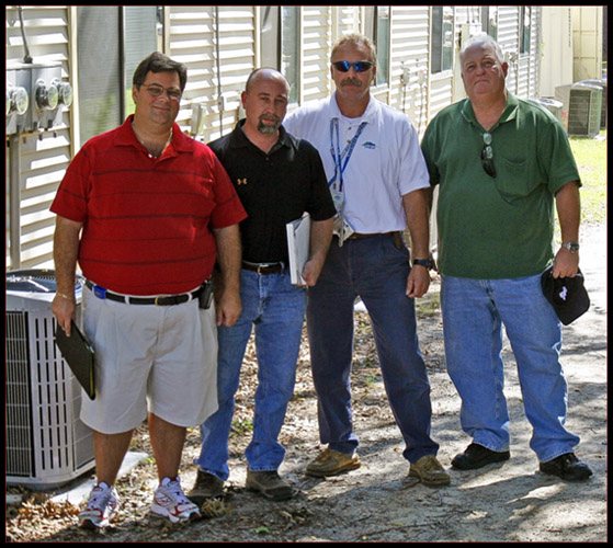 Project Inspection; L to R - Billy-Bob, Bryan, Allen & Kiro